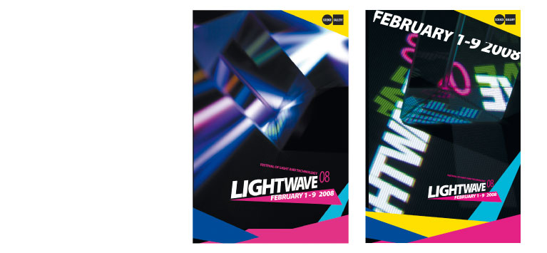 Scienc gallery dublin. Lightwave exhibtion brand design