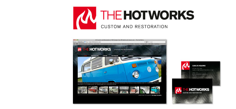 The Hotworks logo and branding